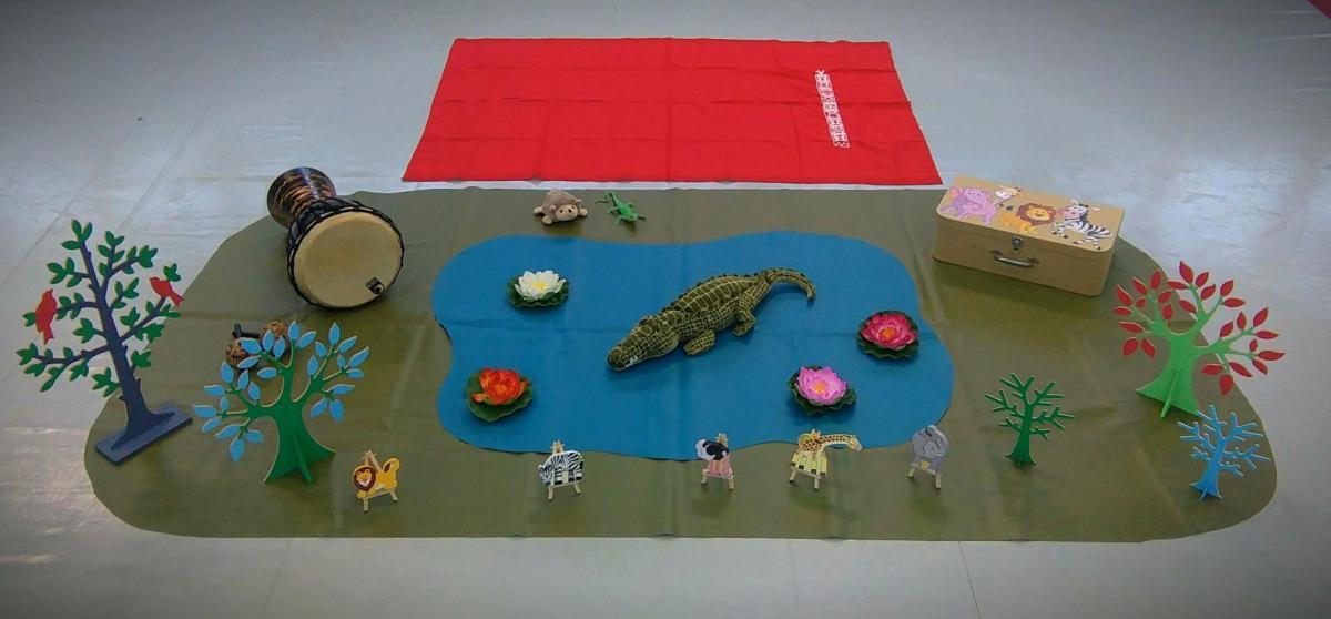herisson et crocodile décor